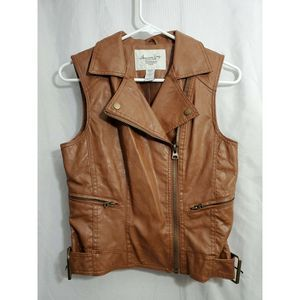 American Rag Womens Vest Size small Faux Leather